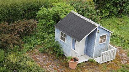 Ein Gartenhaus